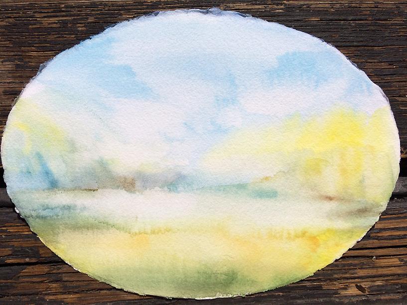 Silsersee/ Herbst I, Aquarell auf Büttenpapier, 20/28 cm, 2018/CHF 200.00/ erhältlich über mich oder Ch. Fümm, 7514 Sils-Maria