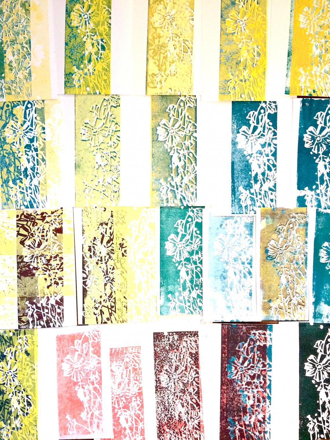 Variationen, Linoldrucke, 2021