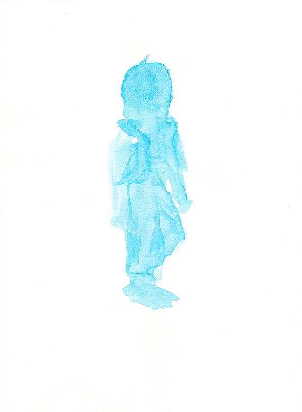 Stella, Aquarell auf Papier, 21/28 cm, 2015